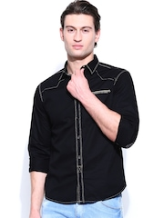 SPYKAR Men Black Casual Shirt