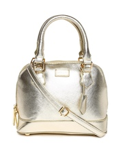 Satya Paul Muted Gold-Toned Leather Handbag