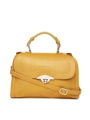 Satya Paul Mustard Yellow Leather Satchel