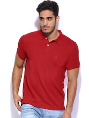 Tommy Hilfiger Men Red Polo T-shirt