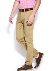 Wills Lifestyle Men Khaki Slim Fit Casual Trousers