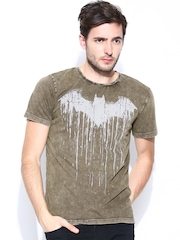 Batman by Free Authority Men Brown Printed T-shirt