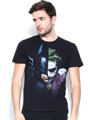 Batman by Free Authority Men Black Printed T-shirt