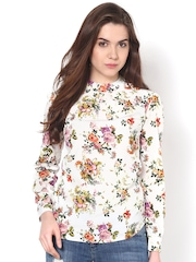 Harpa Women White Floral Printed Top
