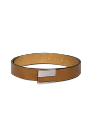 United Colors of Benetton Men Tan Brown Leather Belt