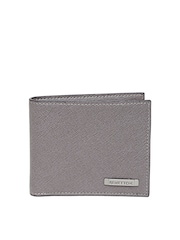 United Colors of Benetton Men Grey Leather Wallet
