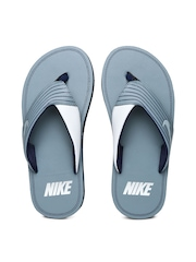 Nike Men Grey Chroma Thong III Flip-Flops