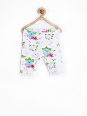 United Colors of Benetton Girls White Floral Printed Leggings