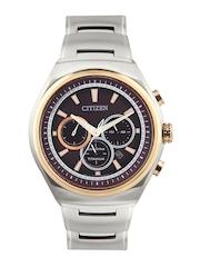 Citizen Men Brown Dial Eco-Drive Chronograph Watch CA4025-51W