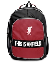 Liverpool Football Club UK Unisex Black & Red Backpack