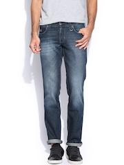 Wrangler Men Dark Blue Rockville Fit Jeans