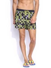Quiksilver Men Yellow & Black Printed Board Shorts