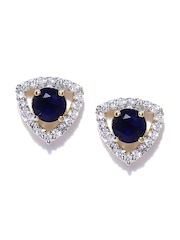 Zaveri Pearls Navy Stud Earrings