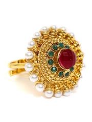 Zaveri Pearls Gold-Toned Ring