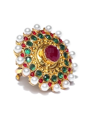 Zaveri Pearls Gold-Toned Oversized Ring