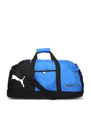 PUMA Unisex Blue & Black Fundamental Sports Duffle Bag