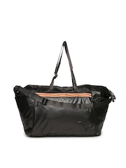 PUMA Women Metallic Grey Fit AT Lux Duffle Bag