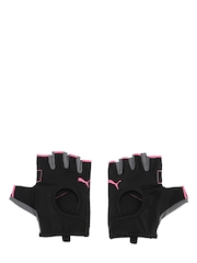 PUMA Women Black Fingerless Gym Gloves