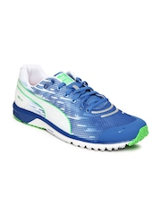 PUMA Men White & Blue Faas 300 v4 Running Shoes