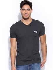 PUMA Men Charcoal Grey T-shirt