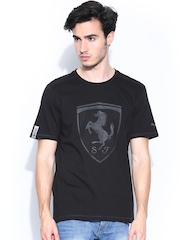PUMA Men Black Printed Ferrari Shield T-shirt