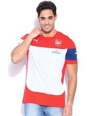PUMA Men Red & Off-White Arsenal T-shirt