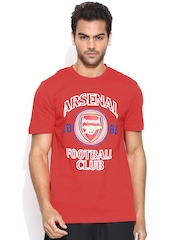 PUMA Men Red Arsenal Football Club Printed T-shirt