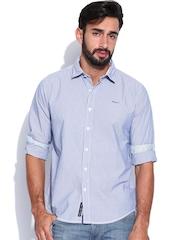 Pepe Jeans Men Blue Semi Fit Casual Shirt