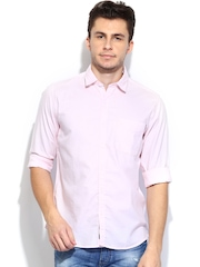 Pepe Jeans Men Light Pink Route Semi Fit Casual Shirt