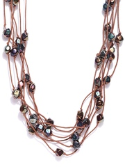 Hi Look Brown Matinee Necklace