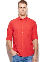 United Colors of Benetton Men Red Casual Shirt