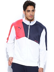 PUMA Men White Track Jacket