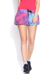 PUMA Women Pink & Blue Printed Shorts