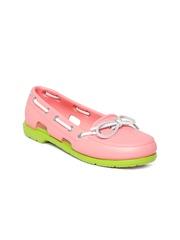 Crocs Women Peach-Coloured Boat Shoes