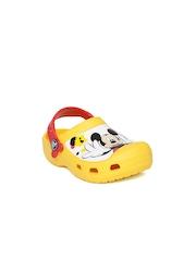 Crocs Kids Yellow Printed Clogs