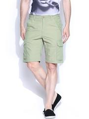 CAT Green Cargo Shorts