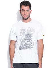 CAT White Printed T-shirt