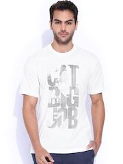 CAT White Slim Printed T-Shirt