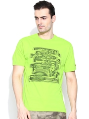 CAT Green Printed T-shirt