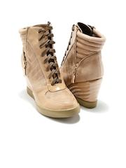 Candie's New York Women Beige Boots