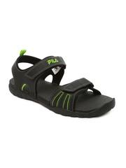 FILA Men Black Mechanics Sports Sandals