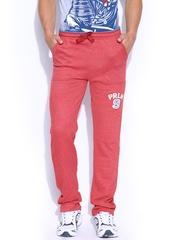 Proline Varsity Men Red Track Pants