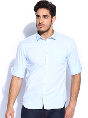 Highlander Men Light Blue Slim Fit Casual Shirt
