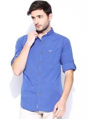 FREECULTR Men Blue Slim Fit Casual Shirt