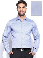 Black Coffee Men Blue Slim Fit Formal Shirt