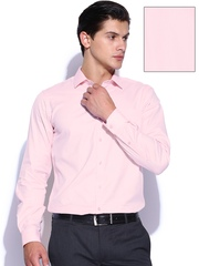 Black Coffee Men Pink Slim Fit Formal Shirt