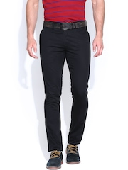 Allen Solly Men Black Smart Fit Casual Trousers