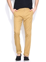 Allen Solly Men Mustard Yellow Ultra Slim Fit Chino Trousers