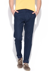 Allen Solly Men Navy Smart Fit Chino Trousers