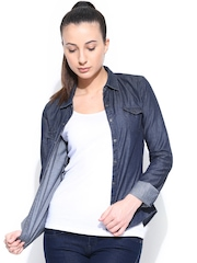 Adidas NEO Women Navy W Denim Shirt